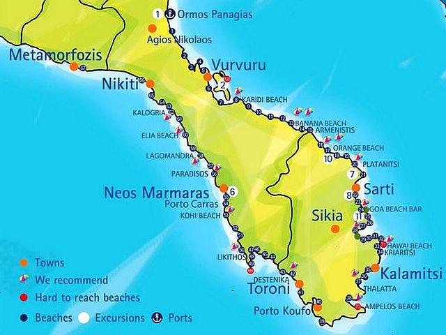 mapa sitonije Sitonija   Turstička agencija GRAND TOURS mapa sitonije